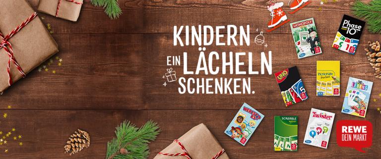 Rewe schenkt kinderen een lach voor Kerstmis